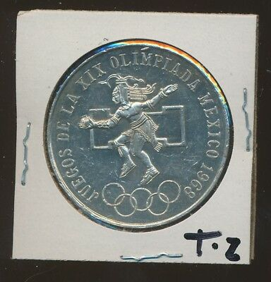 Mexico Silver -25 Peso - Olympics 1968 - Fallon Ring Type #2