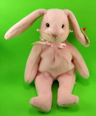 TY Beanie Baby Hoppity the Pink Easter Bunny Rabbit MWMT April Birthday 4-3-1996