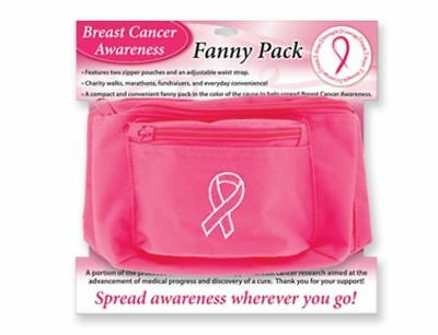 New Breast Cancer Awareness Fanny Pack Ribbon Logo Embroidered on Pink Pack