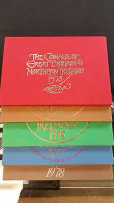 1973-74-75-77 and 1978 PROOF SETS OF GREAT BRITAIN & NORTHERN IRELAND