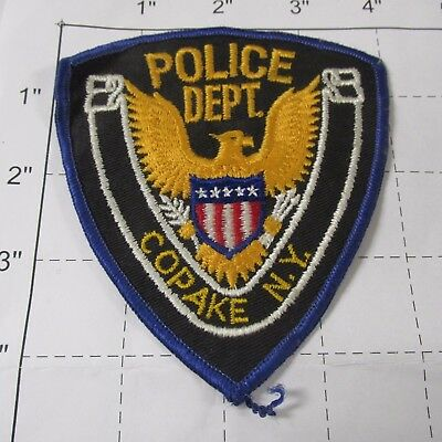 Old Copake Police Dept Cppd Cop Pake Town Eagle Rare Vintage New York Patch