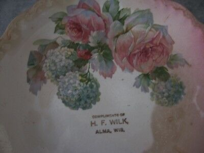 VTG Plate Advertising H.F. WILK ALMA WISCONSIN WI