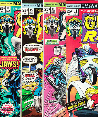 Ghost Rider 1975 Comic Book lot 13 14 15 16 VFNM (9.0) Run Set Marvel Comics