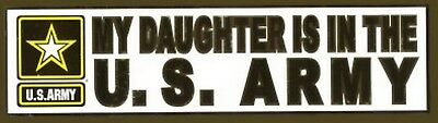 """My Daughter is in the Army Star 12"""" Metallic Bumper Sticker"""