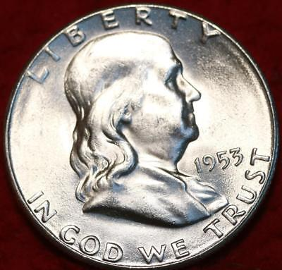 Uncirculated 1953-S San Francisco Mint Silver Franklin Half Free Shipping