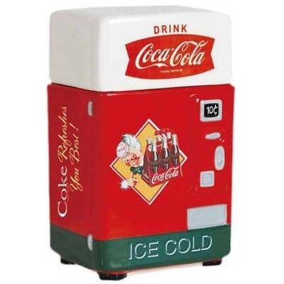 Coca-Cola 24820 REFRESHES YOU BEST Ceramic Coke Vending Machine Kitchen Canister