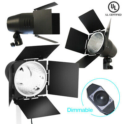 "Continuous Lighting 9.5"" Dimmable Barn Door Accent Photography Light w/ Bulb"