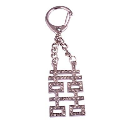 Feng Shui double happiness gold key chain women Gifts W1016