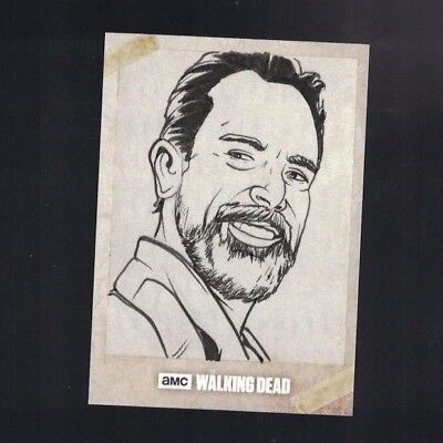 Walking Dead Negan 2017 Topps One of One Hand Drawn Sketch Card 1/1