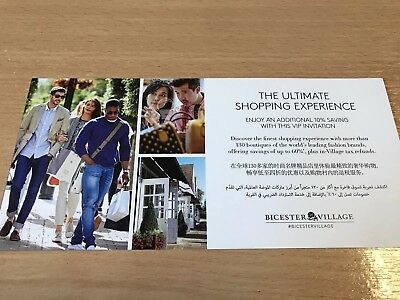Authentic BICESTER VILLAGE Discount Voucher Code Bargain