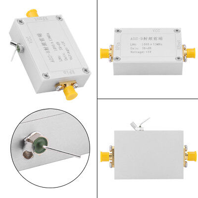 ADS-B 1090MHz RF Front-end Radio Frequency Low Noise Amplifier 38dB Gain LNA ly