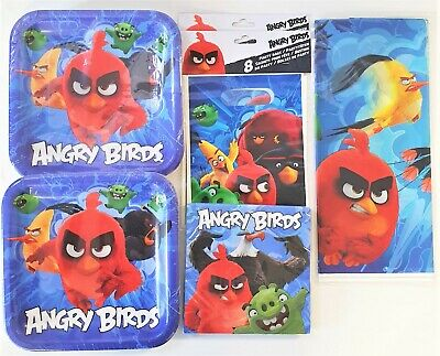 Angry Birds Movie Party Tableware Pack for 16 People - Plates Cups Napkins etc