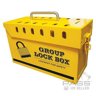 Group Lock Out Box - Yellow 13 Lock