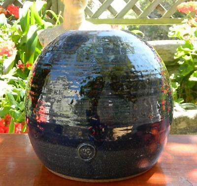 VINTAGE Mid Century Hand Made Terracotta/Clay Glazed Vase with Artists Logo