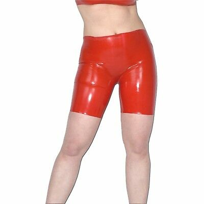 LATEX RADLER* Hose in rot glänzend* Gr. S * Gummi Leggings/ rubber Shorts