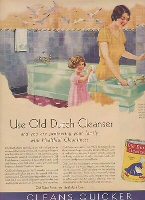 1931 2 Ads Old Dutch Cleanser-Flower Seeds-Back Ads Free Shipping In U.s
