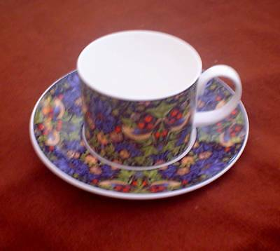 "Dunoon ""strawberry Theif"" Adapted From Williams Morris Cup And Saucer"