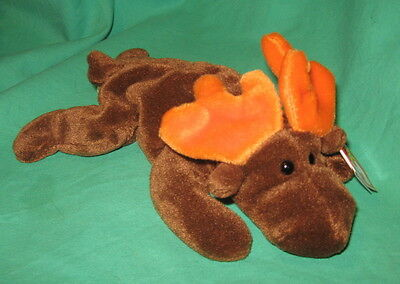 TY Beanie Baby Chocolate the Moose MWMT Birthdate 4-27-1993 April Retired