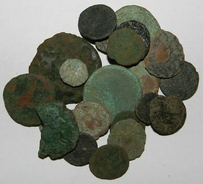 Ancient Rome :  20 X Field Found Bronze Coins - Low Grade