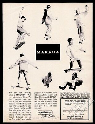 1964 Makaha skateboard 7 photo vintage print ad