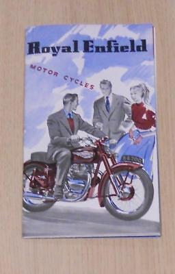 ROYAL ENFIELD Motorcycles Range Brochure 1954 Meteor, Bullet, Clipper & Ensign +