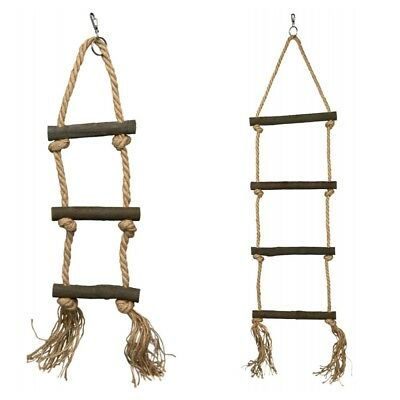 Natural Living Wooden Sisal Bird Ladder For Cages Choice Of Size | Budgie Parrot