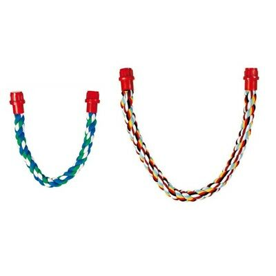 Trixie Pure Cotton Coloured Rope Perch For Bird Cages - Choice Of Size