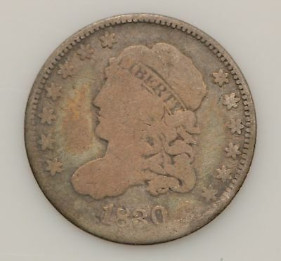 1830 Capped Bust Silver Half Dime *G65