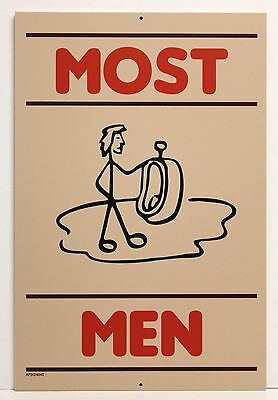 """ MOST MEN  "" 18"" X 12"" Wood Sign - Bar Restaurant -NEW"