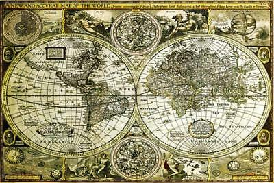 World Map : Historical - Maxi Poster 91.5cm x 61cm new and sealed