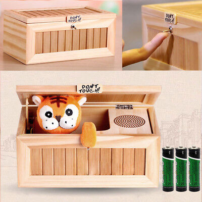 2019New Useless Box Leave Me Alone Box Wooden Most Machine Don/'t Touch Tiger Toy