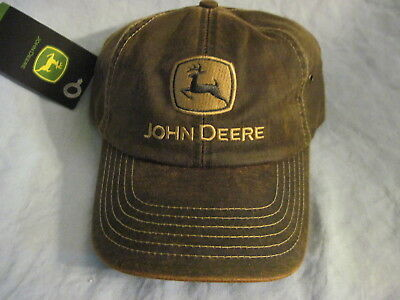 New JOHN DEERE Distressed or Washed Out Style HAT Cap ADJUSTABLE One Size