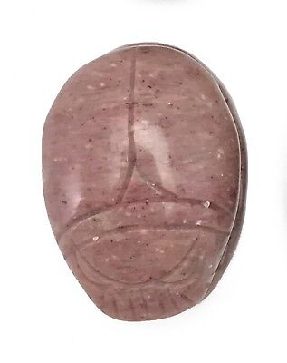 Scarab Rhodonite Hand Carved Gemstone Animal Tiny Totem Statue Stone