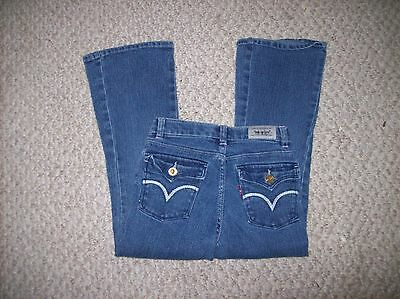 LEVI'S  Girl's Size 6 Blue Jeans Stretch Flare Adjustable waistband