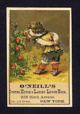 OYSTER HOUSE Ladies Lunch Room NEW YORK CITY Sixth Ave VICTORIAN Trade Card
