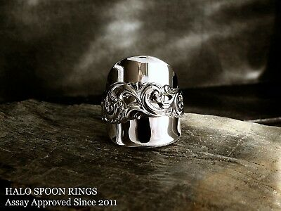 Stunning And Chunky  Norwegian Silver Spoon Ring * Perfect Christmas Gift Idea *