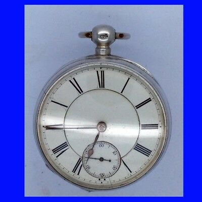 Mint Silver Waltham Foggs Patent Home Watch Co. 15 Jewel KW Pocket Watch 1878