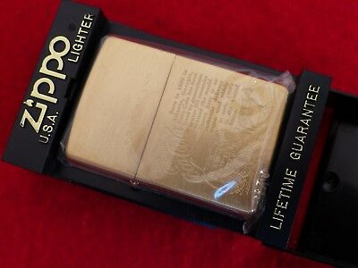 Zippo (Case) USA Solid Brass Engraved Coca Cola mint in box lighter