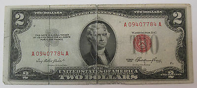 1953 Two Dollar red seal United States Note Currency (#89i)