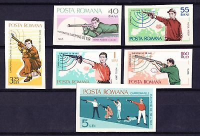 Romania 1965 European Shooting Championships - MNH Imperf set - (723)