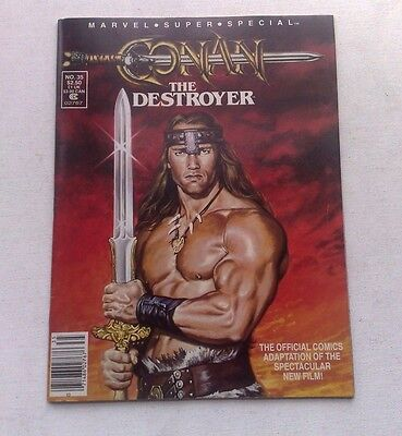 Rare Conan The Destroyer Film Adaptation Marvel Special 1984 Very Fine Cond