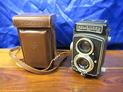 Vintage Rolleicord Camera With Original Leather Case Dbp 1371100 Vg No Reserve !