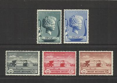 Belgium Belgique Belgie ~ 1940-41 Queen Elizabeth Concert Hall Fund (Part Set)