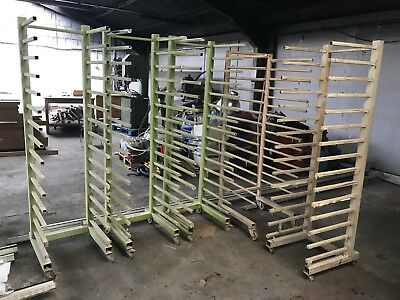 5 x Mobile Industrial Joinery Spray Painting Drying Racks