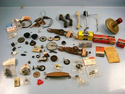 Huge Lot Mixed Phonograph Record Player Parts Nos Tone Arms Belts 45 Rpm Changer