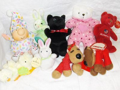 Mixed Bag of 10 Plushes With ZIggy - No Boxes (L30
