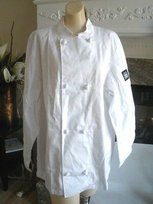 Chef Revival  Jacket, White, Style #J050 Size Large Cloth Knot buttons BRAND NEW