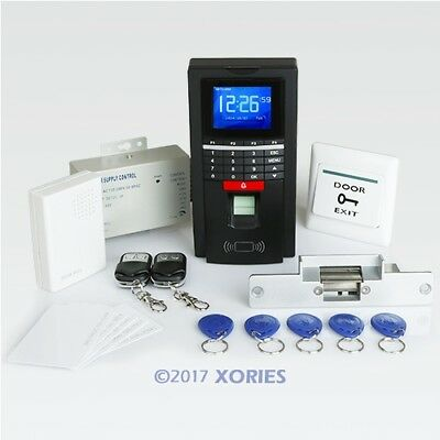 Fingerprint And RFID Card Door Access Control System With Strike Lock+ Doorbell