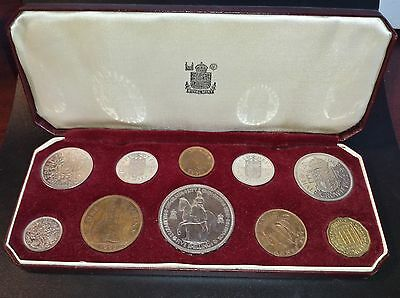 Great Britain 1953 Uncirculated 10 Coin Set In Original Case