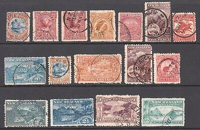 NEW ZEALAND COLLECTION LOT PICTORIALS TO THE 2sh $180+ MOST SOUND 99c NO RESERVE